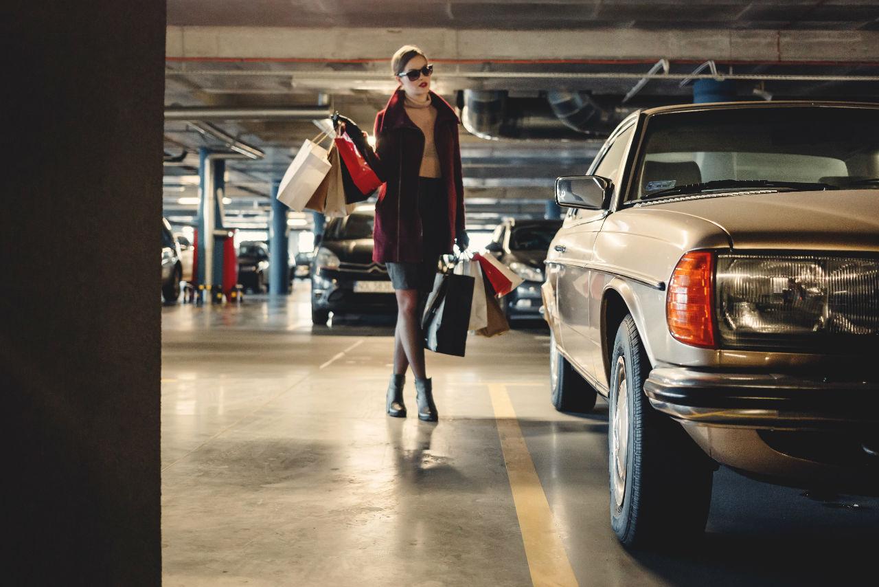 parking centre commercial